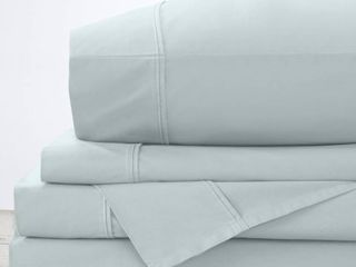 Great Bay Home 100  Cotton Percale Bed Sheet Set
