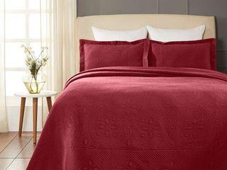 Superior Designer Celtic Circles Scalloped Bedspread  Retail 98 99