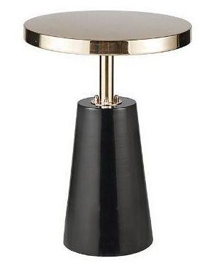 Madison Park Venice Black Gold Accent Table   dia  14 25  x 20 h  Retail 116 99