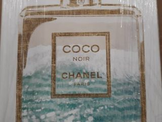 Oliver Gal  Coco Water love  Fashion and Glam Wall Art Canvas Print   Blue  Gold