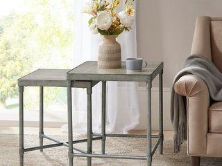 Martha Stewart Bryn lee Antique Silver Accent Nesting Table  Retail 305 99