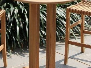 Chara Teak Bar Height Bistro Table by Havenside Home  Retail 464 99