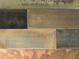 Aspect Peel   Stick 23 6  x 5 9  Aged Copper Distressed Metal Panel