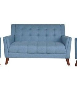 Candace Mid Century Modern Fabric loveseat by Christopher Knight Home  Retail 859 99
