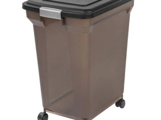 IRIS 67 Quart Airtight Pet Food Container  Black
