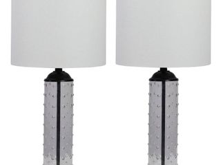 Rena Hobnail Glass Table lamp   Set of 2