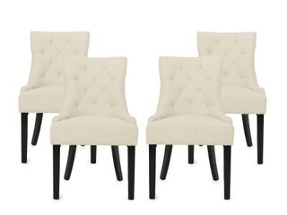 Hayden Contemporary Tufted Fabric Dining Chairs  Set of 4  by Christopher Knight Home  Retail 392 99