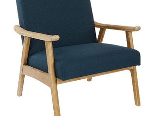 OSP Home Furnishings Weldon Chair with Brushed Finished Frame  Retail 296 49