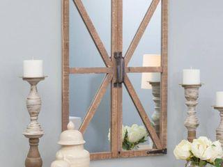 Walker Farmhouse Window Mirror Nutmeg 30  x 20  by Aspire
