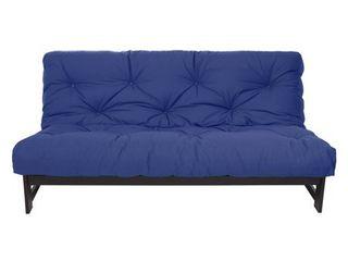 Queen Size Blue 10 inch Dual Gel Futon Mattress  Retail 377 99