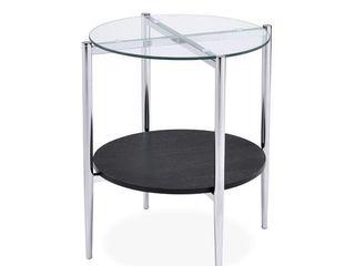 Porch   Den Bally Modern Mixed Media End Table  Retail 82 49