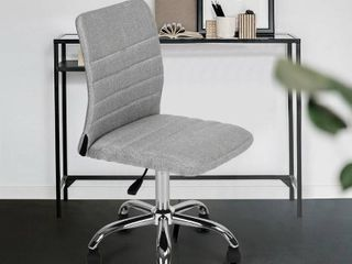 Porch   Den Umber Springs Grey Fabric Swivel Mid back Office Chair  Retail 95 49