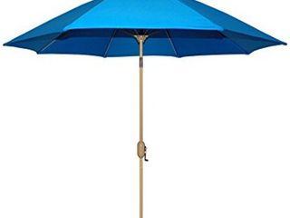 Tropishade Patio Umbrella  Rotational Autotilt with Blue cover  Retail 89 00
