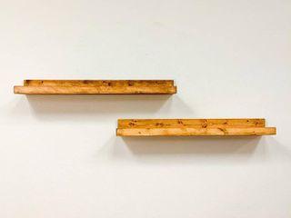 Handmade 36  Rustic luxe Floating Shelf  Set of 2