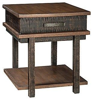 Stanah Casual Rectangular End Table Two tone  Retail 174 99