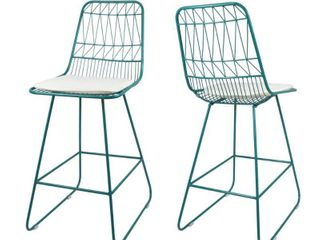 Walcott Modern 26  Seats Geometric Counter Stools  Set of 2  by Christopher Knight Home   Retail 168 00