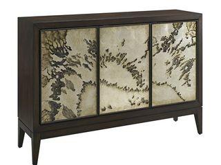 brown abstract 3 door sideboard chest