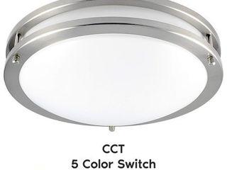 luxrite 12 Inch lED Flush Mount Ceiling light  Color Temperature Selectable 2700K   3000K   3500K   4000K   5000K