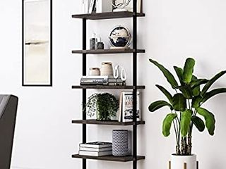 5 Shelf Wood ladder Bookcase with Metal Frame  Retail 128 49