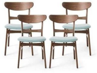 Idalia Mid Century Modern Dining Chairs  Set of 2  by Christopher Knight Home  Retail 256 49 ip