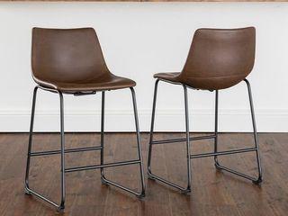 Carbon loft Prusiner Faux leather Bar Stool  iSet of 2    Retail 186 49