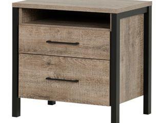 Munich Modern Industrial 2 drawer Nightstand  Retail 187 99