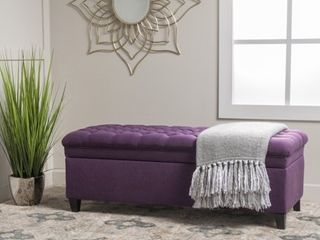 Hastings Tufted Fabric Storage Bench by Christopher Knight Home  Retail 234 99