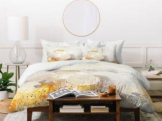 Deny Designs White Floral Duvet Cover Set  3 Piece Set  Retail 145 99