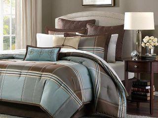 Home Essence Daniel 8 Piece Jacquard Comforter Bedding Set