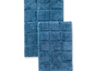 Impressions Rosholt Solid Cotton 2 Piece Bath Rug Set