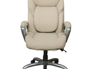 Works My Fit Executive Office Chair with Tailored Reach Inspired Ivory   Serta  Retail   223 39