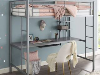 Taylor and Olive Abner Twin Metal loft Bed  No Instructions