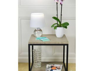 Eccostyle 2 Tier Solid Bamboo and Steel Frame End Table