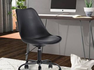 Blokhus Black Pu Cushion Ergonomic Office Desk Chair  Missing Some Hardware And Broken Wheel
