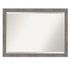 Pinstripe Plank Grey Bathroom Vanity