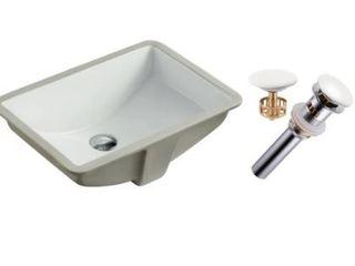 20 3 4 Inch European Style Rectangular Sink Ceramic White