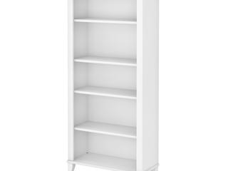 Bush Furniture Somerset 66 in  H 5 Shelf Bookcase  White