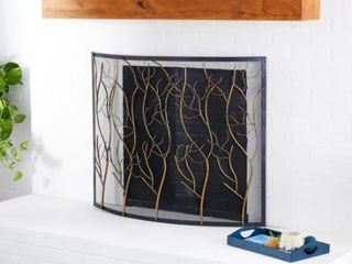 Carbon loft Priscilla Metal Fire Screen 42 x 32 Inches