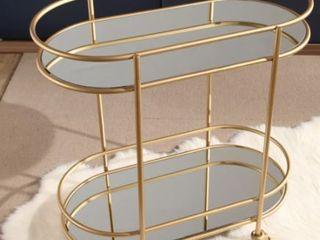 Piper Goldtone Bar Cart By Abbyson