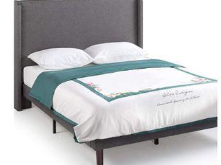 Zenus Marcus Upholstered Wingback Platform Bed Queen