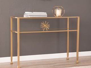 Silver Orchid Price Metal Glass Console Table  Retail 104 99