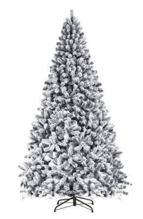 Suncrown 7ft Premium Artificial Snow Flocked Christmas Tree  Retail 129 99