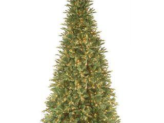 9 Foot Realistic Fir lit Slim Tree  Retail 385 99