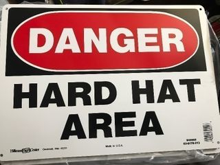 lot 6 new danger signs made of aluminum not plastic so will not deteriorate