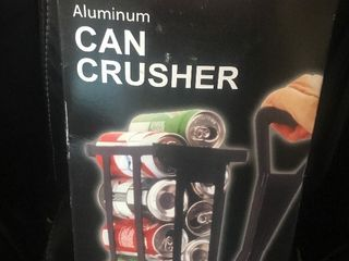Can crusher holds several cans