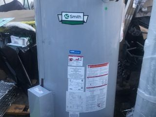 New high dollar hot water heater commercial grade 100 gallons natural gas as shipping dents but does not affect the function