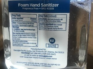 Case of  4  foaming hand sanitizer refills Expiration date 9 2022 Retails for  80 a case