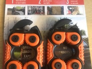 New set of two rope or bungee grippies Make your ropes easy to tighten without knobs retail for around  22 apiece very handy must have