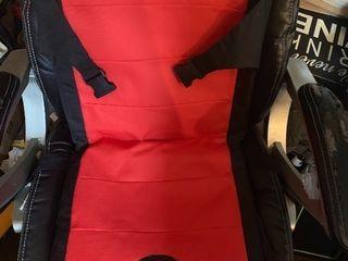 Bleacher cushion seat with storage