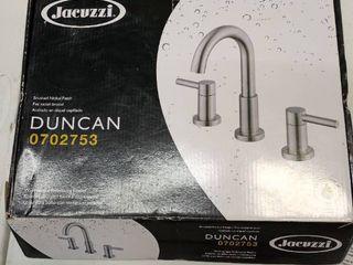 Jacuzzi Duncan 0702753 Bushed Nickel 2 handle Widespread Bathroom Faucet   Drain